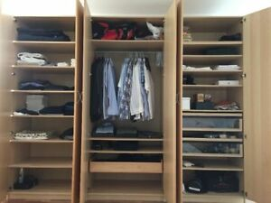 ikea pax kleiderschrank buche schlafzimmerschrank schrank 3m x 2 36 ebay. Black Bedroom Furniture Sets. Home Design Ideas