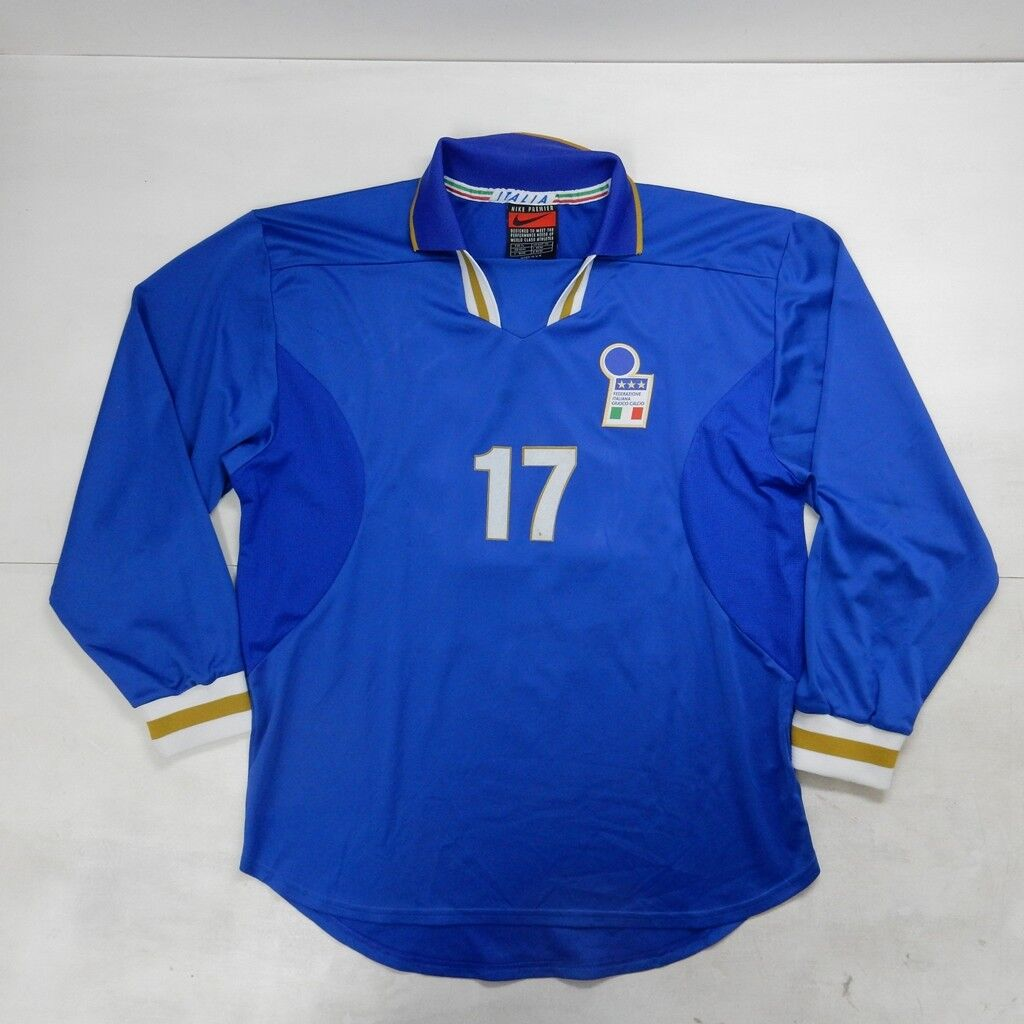 Camiseta Uso Match Worn Shirt Italia 1998