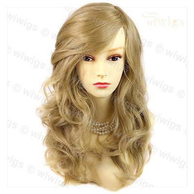 Wonderful Wavy Long Golden Blonde Ladies Wig Hair From WIWIGS UK