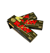 Raw Classic Black 1 1/4 Rolling Papers 3 Packs 50 Leaves Per Pack Double Pressed