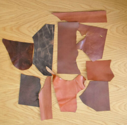 ASSORTED COLOURS 1.6-2.2 MM LEATHER COWHIDE OFF CUTS PACK 400 GM