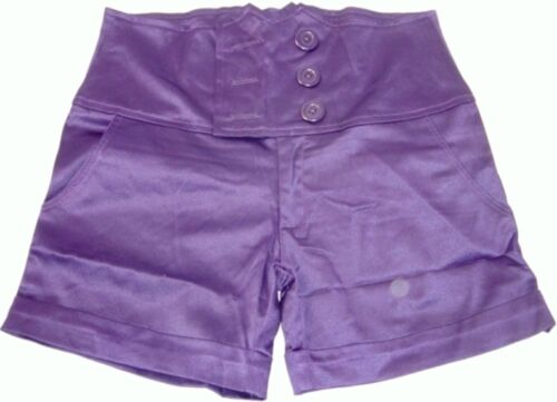 Deep Purple Bodycon Stretchy Cut out High Waisted Corset Waist Hot Shorts Pants