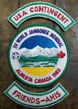 1983 WORLD SCOUT JAMBOREE - ALBERTA CANADA 3 Badge Set