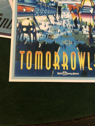 DISNEY WORLD TOMORROWLAND COLLECTOR/'S POSTER 4 SIZES TO CHOOSE FROM