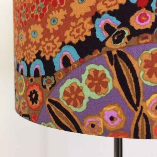 Brown Beautifully Handmade Drum Lampshade In Kaffe Fassett /'Millefiore/'