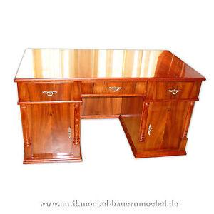 Schreibtisch pc tisch computertisch biedermeier kirschbaum for Tisch kirschbaum