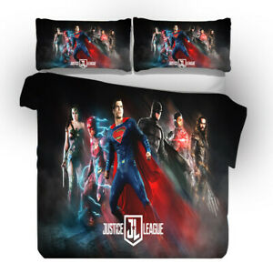 Superman-3D-diseno-del-lecho-del-3PC-De-Funda-De-Edredon-Funda-De-Almohada-Individual-Doble-King