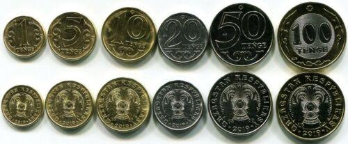 set 6 coins 1 5 10 20 50 100 Tenge 2019 UNC Lemberg-Zp Kazakhstan