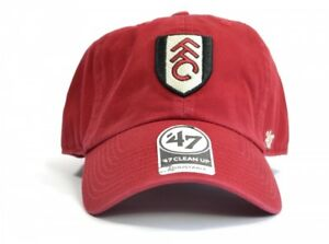 f9b134121d47f Fulham Football Club Official 47 Brand Clean Up Red Adjustable Cap ...