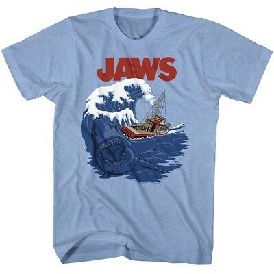 Jaws The Orca Caught In A Big Wave With Jaws Adult T Shirt Great Movie