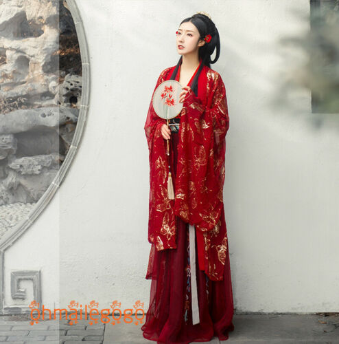 HANFU Femme Robe De Soleil-Top Tops Jupe Manteau Cosplay Fête de mariage robe costume
