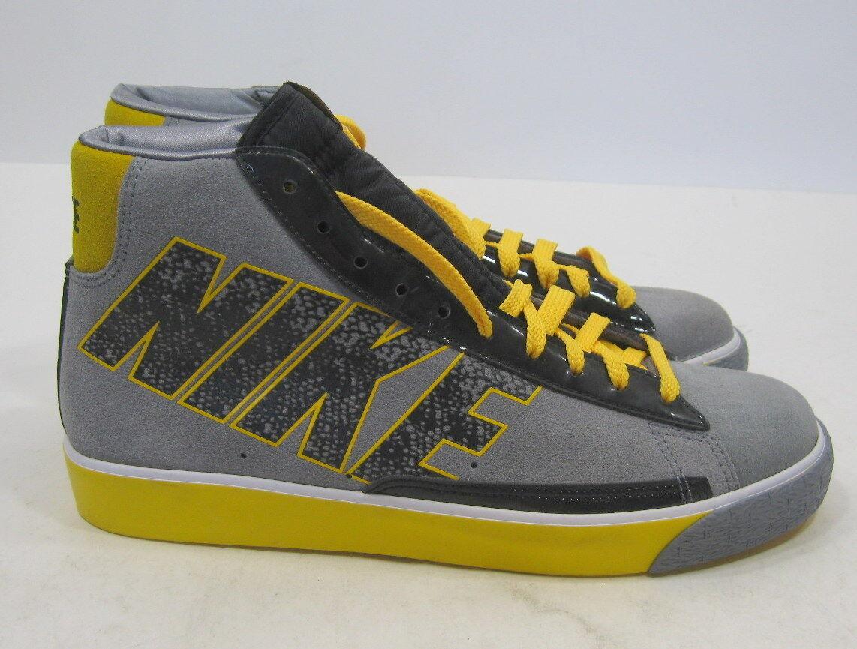 Neue nike blazer high kühlen grau schwarz - weiß - gelb 316664-003 sneaker größe 8