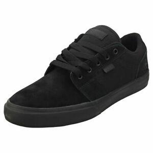 Etnies-Barge-Ls-Da-Uomo-Nero-Camoscio-Scarpe-Da-Ginnastica-Da-Skate-Scarpe-Sneaker-Triple-Nero-UK-10