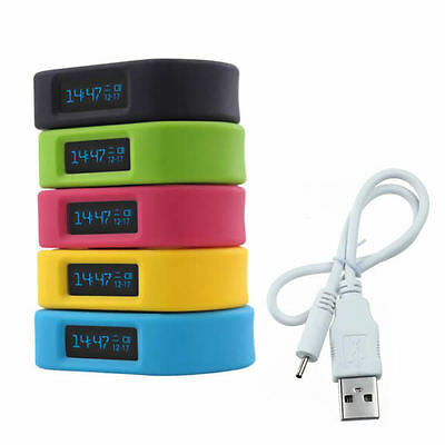 OLED Bluetooth 4.0 Sport Health Smart Wrist Band Bracelet for IOS Android iPhone