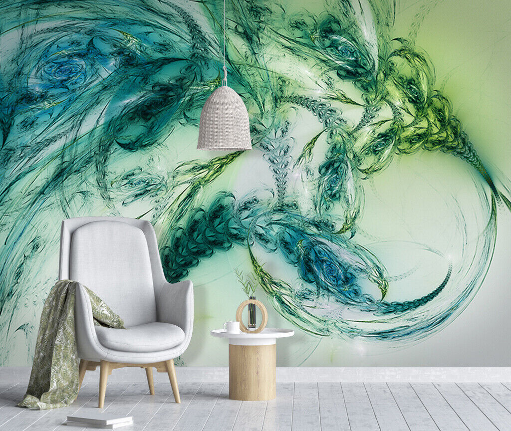 3D Abstract Art N199 Wallpaper Wall Mural Removable Self-adhesive Sticker Amy