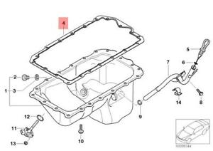 Details about Genuine BMW E81 120 N43 E46 318Ci N46 E90 316i Engine Oil Pan  Gasket 11137511224