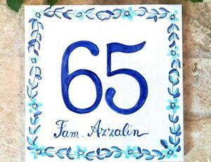 Numeri Civici In Ceramica.Dettagli Su Numeri Civici Mattonella Ceramica F To 15x15 Cm 10x10cm 20x20cm Alta Definizio