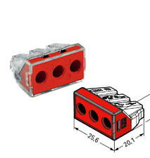 CONNECTOR 3WAY 773-173 Pack of 10 By WAGO PUSHWIRE 6MM2