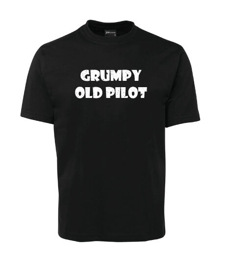 Grumpy Old Pilot T-Shirt - black