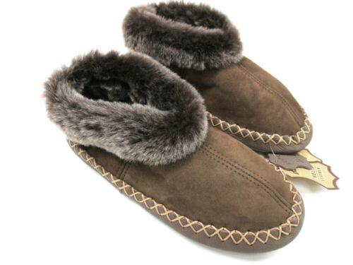 Men/'s Genuine Sheepskin Slippers Leather Shoes Boots Fur Wool Mules Moccasins