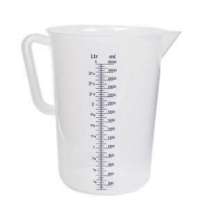 5 litre plastic polypropylene measuring jug new ebay - How many milliters in a liter ...