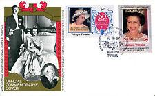 TUVALU VAITUPU 1987 QUEEN 40th WEDDING ANNIVERSARY $2 & $3.50 FIRST DAY COVER