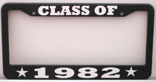 CLASS OF 1982 LICENSE PLATE FRAME FITS CAMARO TRANS AM