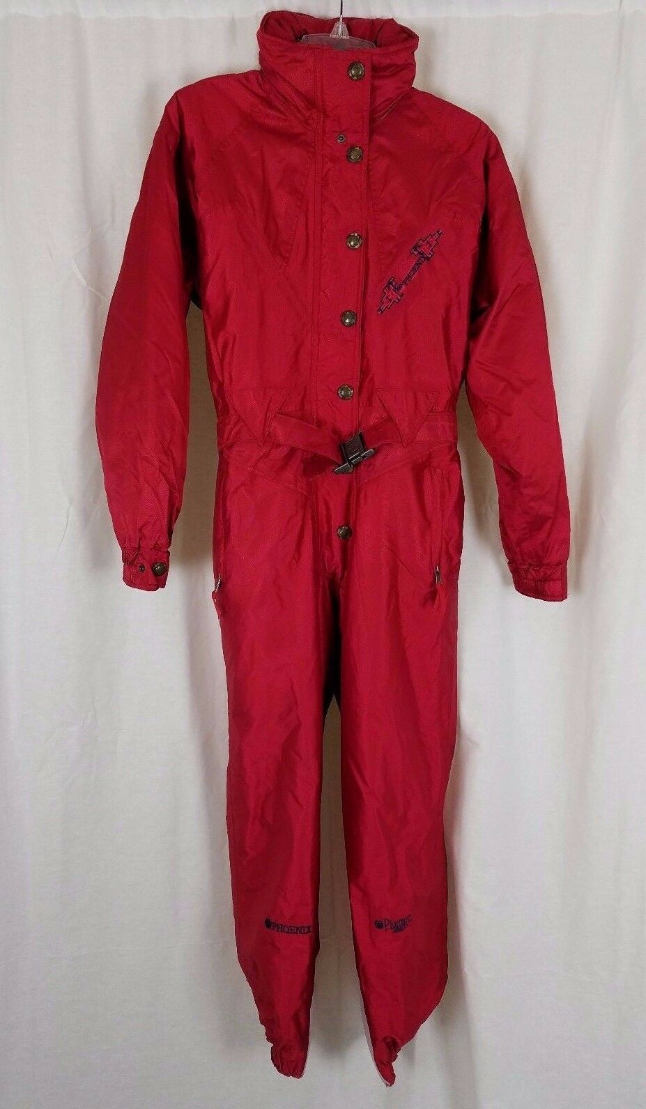Vintage Phoenix Pharrago Insulated One Piece Winter Ski Snowsuit Womens 10 Red