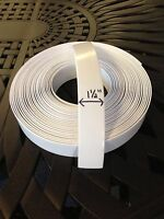 1.5 Vinyl Strapping For Patio Furniture 20' Roll White