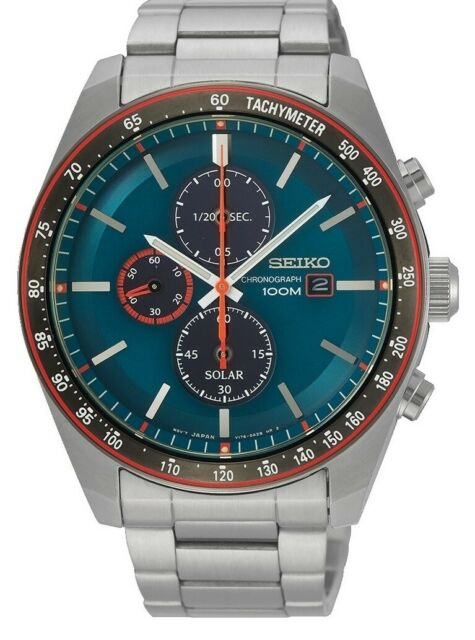 Seiko Gents Solar Powered Watch - SSC717P1 NEW