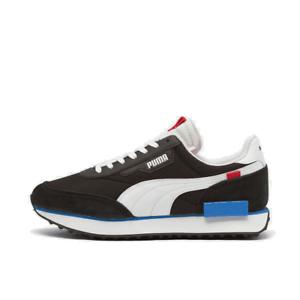 Men-039-S-Puma-Future-RIDER-GIOCO-SU-Scarpe-Da-Corsa-Nero-Bianco-Rosso-Blu-37114914-001