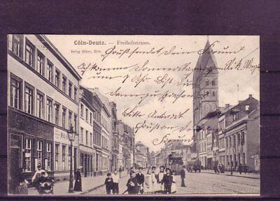 Hitze Und Durst Lindern. Gelaufene Ansichtskarte Köln freiheitsstr.- europa:11365