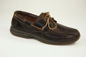 Timberland-Hulls-Cove-2-Eye-Boat-Shoes-Lace-up-Moccasin-Men-039-s-Shoes-5748R