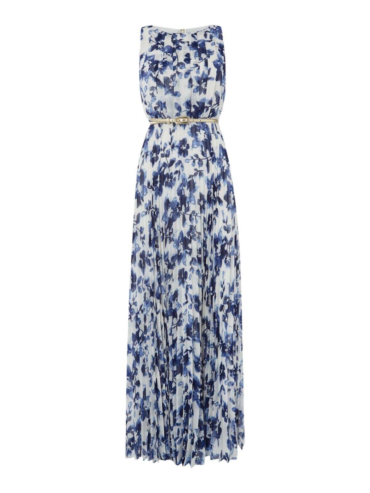e6ba17226443 Ridotto con etichetta Bianco Blu J Floreale Maxi Abito Blu Navy (blu)  Dimensioni 16 prezzo consigliato NUOVA Eliza nnabql5343-Vestiti