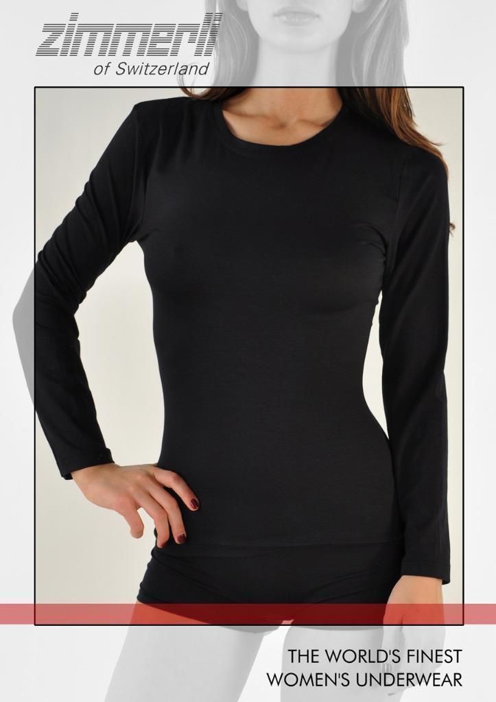 Zimmerli of Swizterland Womens Pureness Micromodal Solid Long Sleeve Tank Shirt