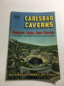 Carlsbad Caverns National Pk New Mexico 1960's Pamphlet Underground Fairyland