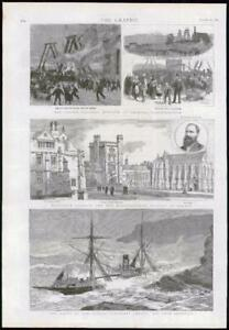 1889-Antique-Print-LONGTON-COLLIERY-OXFORD-MANSFIELD-CUNARD-SHIP-MALTA-169