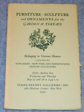 Garden & Terrace Ornaments, PARKE-BERNET GALLERIES, NY 1959 Catalog #1907