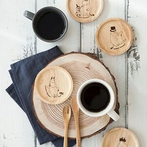 Image is loading Moomin-Drink-Coaster-Drinks-Coasters-Wood-Glass-Wooden- & Moomin Drink Coaster Drinks Coasters Wood Glass Wooden Coffee Cup ...