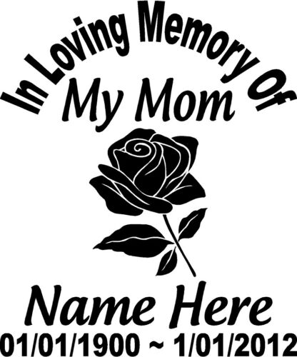 Window Stickers In Memory Of