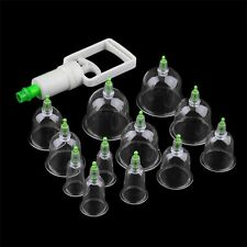 Effective Healthy 6/12 Cups Medical Vacuum Cupping Suction Therapy Device Set KY