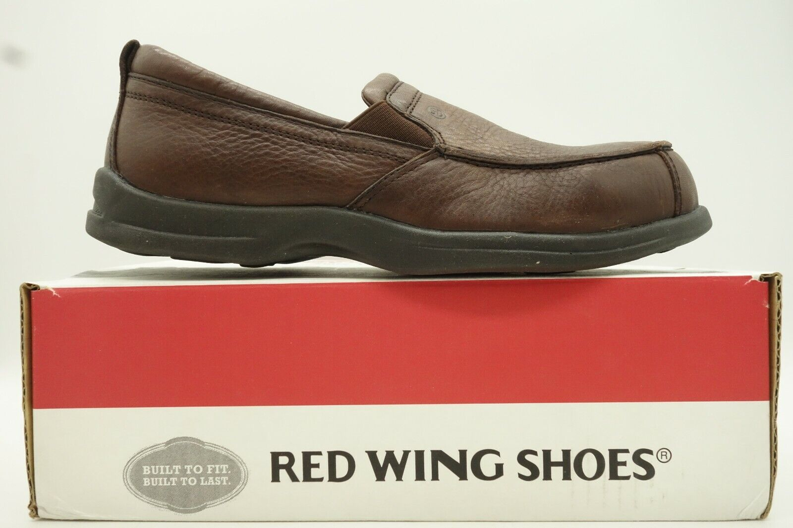Red Wing Wing Wing shoes Brown Leather Casual Comfort Slip On Loafer shoes Womens 8 B c16c29