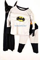 2-7 Batman Boys Kids 3pc Muscle Costume Set Halloween Party Dress Up Outfit