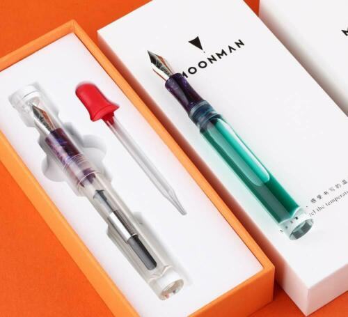 NEW Moonman C1 Transparent Eye Dropper Filling Fountain Pen Large-Capacity Gift