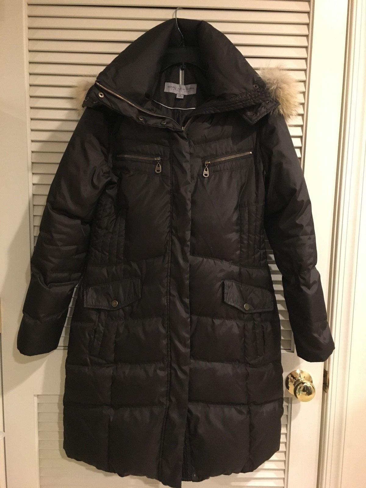 MARC NEW YORK Women Brown Down Coat Coat Coat Size S c44d56