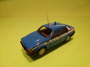 DEA PRC ALFA ROMEO 75 1.8 IE 1985 - POLIZIA POLICE - BLUE 1:43 - EXCELLENT