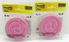 Lot Of 2 Packs Post It Super Sticky Notes 29 X 28 Round Symbol Pink Notes