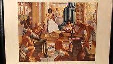 """ROBERT THOM""""EGYPT 1500 B.C.""""PRINT SERIES:A HISTORY OF PHARMACY IN PICTURES"""