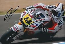 Randy De Puniet Autograph MotoGP HONDA SIGNED 12x8 Photo AFTAL COA Silverstone