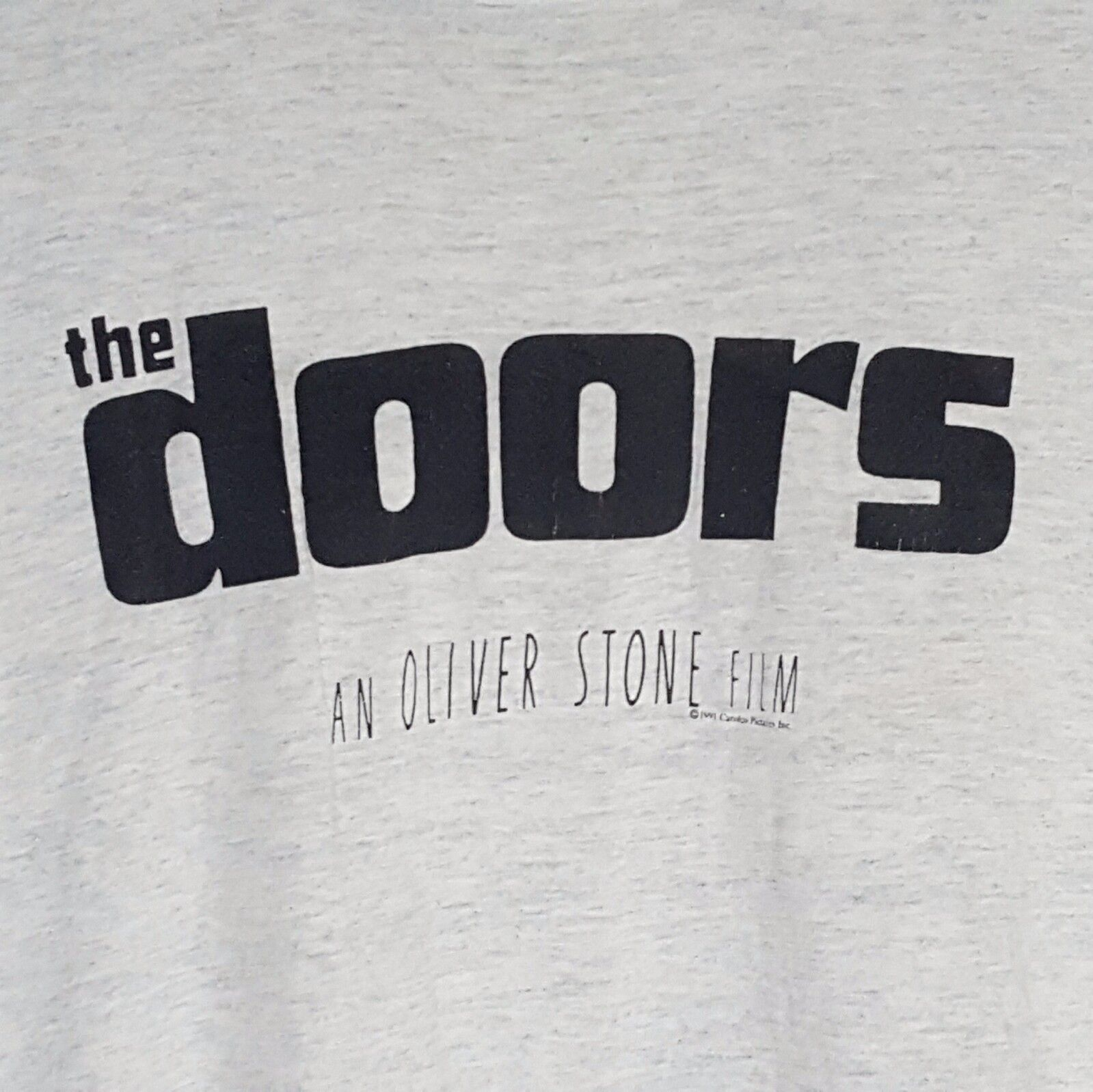 Vintage 1991 The DOORS An Oliver Stone Film Carolco Pictures INC T-Shirt Size XL